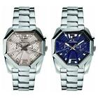 Mens Watch CHRONOTECH EGO Multifunction Steel Bracelet Blue Silver Sub 50mt