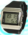 DW365A New Black Band PNP Shiny Silver Watchcase LED BackLight Men Digital Watch