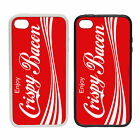 Enjoy Crispy Bacon - Rubber and Plastic Phone Cover Case - Coca Cola Parody £6.95  on eBay