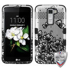 Black Lace Flowers Rugged Hybrid Tuff Hard Protective Rubber Phone Case Cover