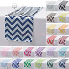 "1/5/10/20 PCS 14""x108"" Satin Chevron Table Runner Cloth for Wedding Party Decor"
