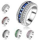 Size 6,7,8,9,10 Great Emerald Sapphire 18K Gold Filled Woman Man Fashion Ring