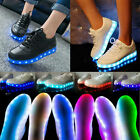 Unisex Lovers USB Charger LED Light Up Luminous Sportswear Sneaker Casual Shoes