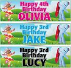 "2 PERSONALISED IN THE NIGHT GARDEN BIRTHDAY BANNERS 36 ""x 11"" - ANY NAME ANY AGE"