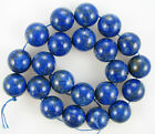"A+ Natural Lapis Lazuli Round Beads 16"" strand 8mm 10mm 12mm 14mm 16mm 18mm 20mm"