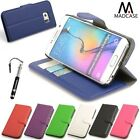 For Samsung Galaxy S6 S6 Edge Leather Case Wallet Credit Card Grained Cover