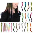 Highlight Colorful Hair Clip On In Synthetic Hair Extension Party Fashion