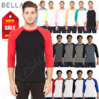 Bella Canvas Unisex 3/4 RAGLAN Sleeve XS-2XL Baseball T-Shirt M-3200