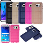 Grid TPU Soft Case Cover Metal Alloy Camera Lens Protector for Samsung Galaxy