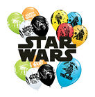 "6 x STAR STARS 11"" Latex BALLOONS - Choice of Design (Qualatex) Party Decoration"