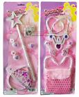 Glitter Girl Princes Set Magic Wand Queen Crown Ring Girls Fancy Dress Purse HLU