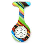 Colorful Silicone Stainless Round Dial Quartz Fob Quartz Pocket Nurse Watch Cute