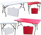 HEAVY DUTY PICNIC CAMPING GARDEN FOLDING TABLE 4ft 6ft 2ft10in OUTDOOR MARKET