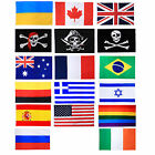Large 3x5 FT World National Flags Country World Cup Football Teams Peace Flags