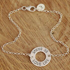 925 Sterling Silver Bracelet Be Brave Love Life Charm & Personalised Initial tag