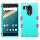 Solid Teal Tough Hybrid Phone Cover Durable Shock Absorb Protector Case Shell