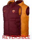 SMANICATO AS ROMA NIKE GILET GIUBBOTTO REVERSIBILE CORE PADDED BORDEAUX ORANGE