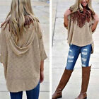 Plus Womens Knitted Batwing Sleeve Blouse Tops Ladies Top Hoodie T AU Size 10-16