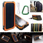 20000mAh Waterproof Solar Dual USB LED External Battery Power Bank Pack Charger