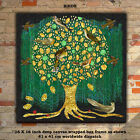 Tree of Life Canvas Deep BOX FRAMED Birds or Butterflies gold effect round tree