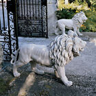 Large Garden Statue Regal Lion Entrance Doorway Ornament ...