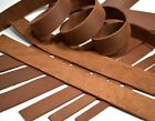 "SECONDS: One 5-6oz BROWN OIL-TANNED LEATHER Strip Strap (5/64""-3/32"" Thick)"