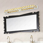 LED SMD 2835 Wall Sconces Lamp Crystal Bedroom Toilet Mirror Front Light Fixture