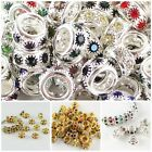 Wholesale Clear CZ Charm Spacer Big Hole Charms Beads Fit European Bracelets New image