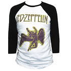 Led Zeppelin 3/4 Sleeve T-shirt Hard Rock Metal Band Shirt All Sizes