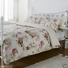 House of Freaser Pure Opulence Beatrice Rose Floral Bed Linen Duvet Cover Set