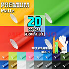 *17 Colors Premium Matte Vinyl Wrap Sticker Decal Sheet Bubble Free Air Release