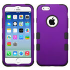 Solid Purple Shock Absorb Hybrid Phone Cover Durable Case Hard Protector Shell