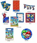 Super Mario Bros Wii Party Plates - Invitations Table Cover Room Banner Napkins