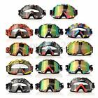 Transparent&Colored lens Motorcycle Motocross Off-Road Dirt Riding Bike Goggles