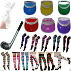UNISEX ADULTS VISOR HAT INFLATABLE GOLF CLUB FANCY DRESS GOLFER GLOVES SOCKS NEW