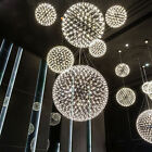 Luxury 6W/10W/15W LED Firework Pendant Lamp Ceiling Light Chrome Steel Hotel Bar