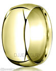 10K Yellow Gold Wedding Band Ring 8mm SZ7-7.75 Heavy Comfort Fit 2mm Thick Round