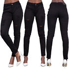 Womens Ladies High Waist Plus Size Ripped Jeans Stretchy Pants UK 14 16 18 20 22