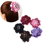 Kids Flower Hair Net Stretch Crochet Bun Cover Hair Snood Ballet Dance Skating