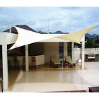 12' 16' 18' Rectangle Square Triangle Sun Shade Sail Yard Patio Canopy Pool Top