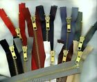 "22"" #5 Brass Jacket YKK Zippers   Beige Black Brown Md Grey Navy Olive Drab"