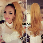 "21""/50cm Wavy One Piece Hair Extensions Wrap Around Tie Up Ponytail Pigtails"