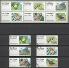 POST & GO MINT & USED MATCHING SETS 2010 - 2015 BIRDS ANIMALS FRESHWATER FLORA