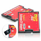 New Double Micro SD TF SDHC SDXC To CF Type I UDMA HighSpeed Memory Adapter