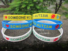 I Love Someone With Autism Autism Awareness Silicon Wristband Bracelet