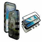 3 PIECE HYBRID FOR SAMSUNG GALAXY Note 2 N7100 TUFF COMBO HARD SOFT CASE COVER
