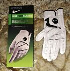 NEW Mens S M M L L NIKE Tour Classic White Black Left or Right Hand Golf Glove