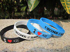 I Love 5 SECONDS OF SUMMER Silicon Filled in Colour Wristband Bracelet