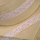 Full Roll Cotton Lace Ribbon 25mm x 10m - Vintage Dusky Rose Pink