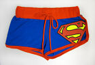 Superman Classic Logo DC Comics Licensed Women's Junior Booty Shorts - Blue